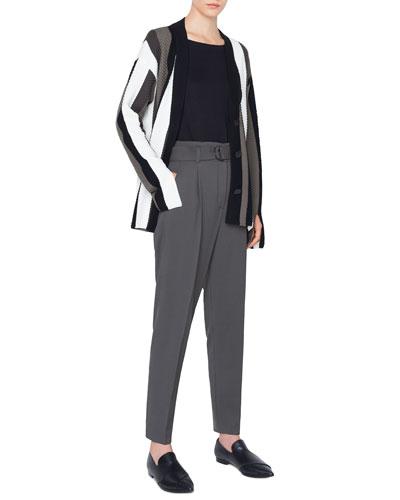 Striped Merino Trumpet-Sleeve Cardigan and Matching Items