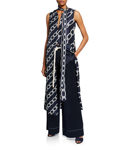 Chain Print Caftan Top and Matching Items