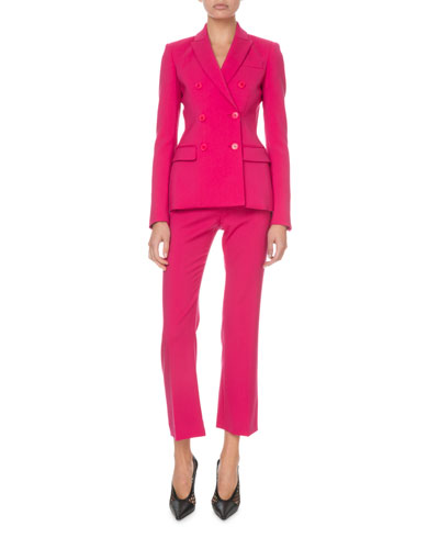 Double-Breasted Stretch-Wool Blazer  Pink and Matching Items
