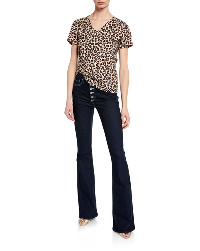 Saniya Leopard-Print V-Neck Tee and Matching Items