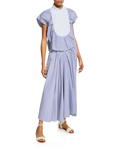 Pleated Tuxedo Top and Matching Items