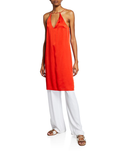 Strap-Front Slip Dress and Matching Items