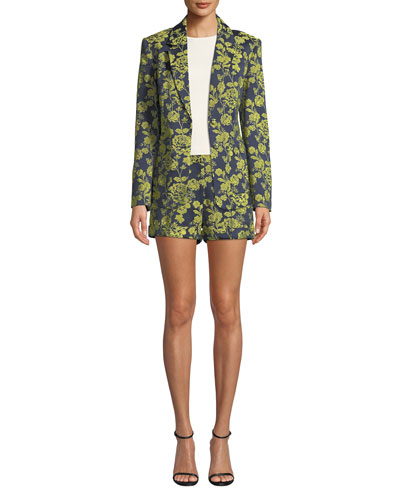 Janae Structured Floral Jacket and Matching Items