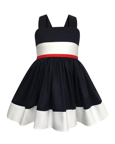 Colorblock Bow-Back Sun Dress