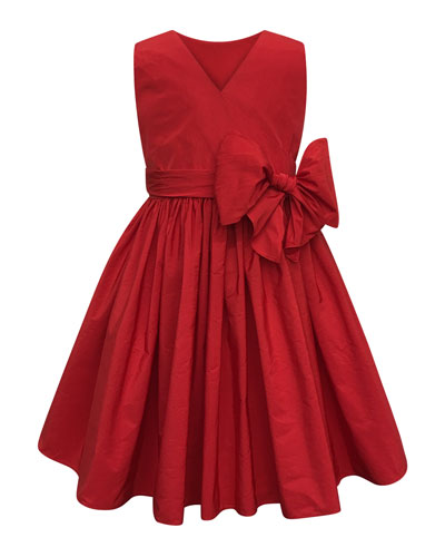 Sleeveless Cotton Dress w/ Big bow
