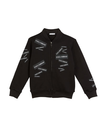 Logo Patch Bomber Jacket  Size 4-6  and Matching Items