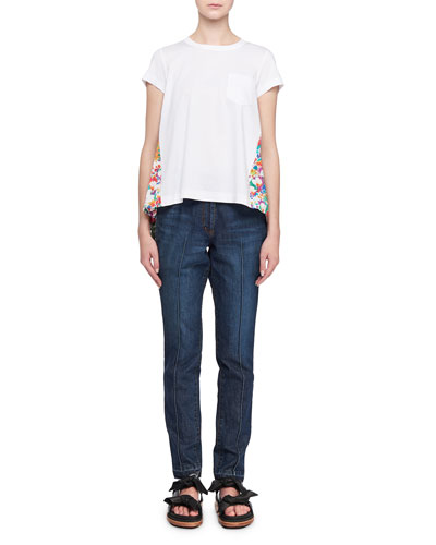 Floral Pleat Back Ss Tee and Matching Items