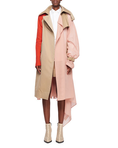 Chiffon Side Asymm Trench Co and Matching Items