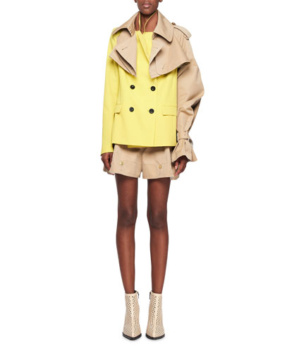 Colorblk Db Blzr Trench Shld and Matching Items