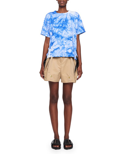 Tie Dye Side Lace Up Ss Crw  and Matching Items
