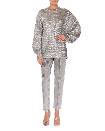 Olivia Sequined Crewneck Sweater and Matching Items