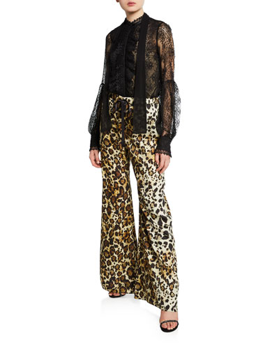 Ordell Leopard-Print Flare-Leg Pants and Matching Items