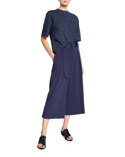 Indigo Stripe Wide Slv Crop  and Matching Items