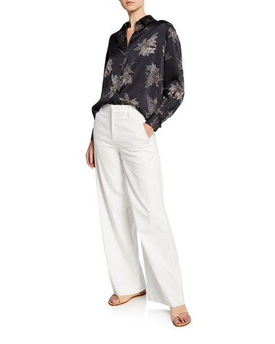 Woodblock Floral Blouse and Matching Items