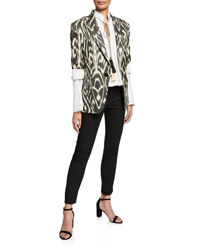 Oversize Ikat Blazer and Matching Items