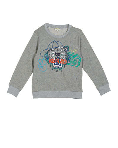 f721c800b9b8 Tiger in Ball Cap Embroidered Sweatshirt Size 5-6 and Matching Items