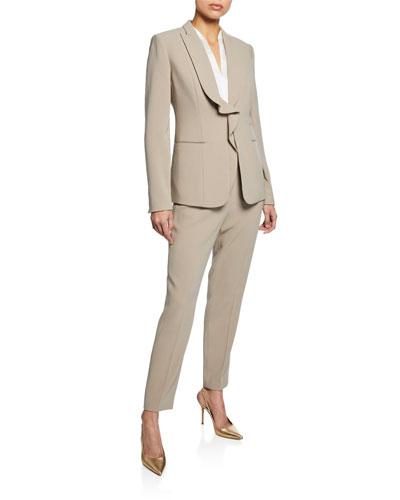 Serena Ruffle Front Crepe Jacket and Matching Items