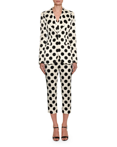 Single-Breasted Polka Dot Duchesse Jacket and Matching Items