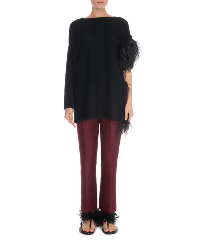 Long-Sleeve Cashmere Sweater and Matching Items