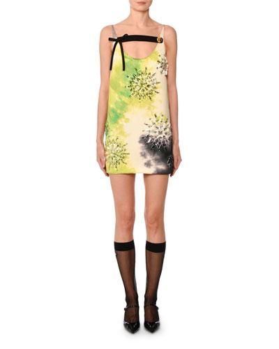 Sleeveless Tie-Dye Beaded Mini Dress and Matching Items