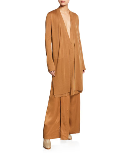 Cashmere Long Side-Slit Cardigan and Matching Items