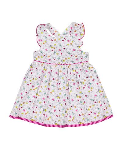 Animal-Print Ruffle Sleeveless Dress  Size 6-24 and Matching Items