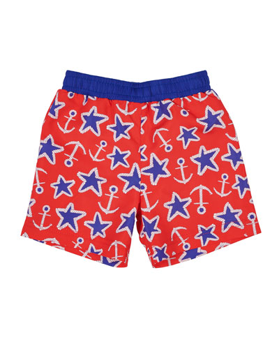 Anchor Star-Print Swim Trunks  Size 6-24 and Matching Items
