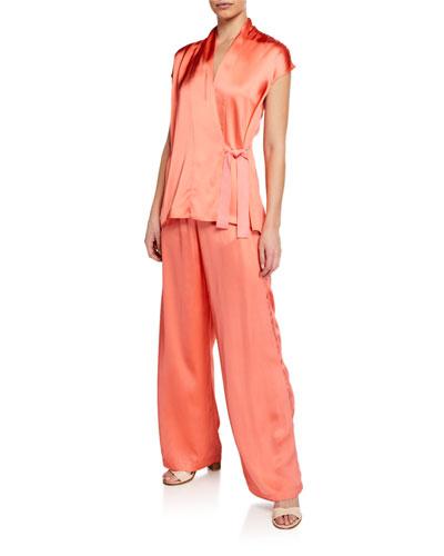 Tasmeen Bi-Color Satin Waistcoat and Matching Items