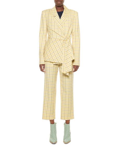 Marvel Plaid Suiting Wrap Jacket