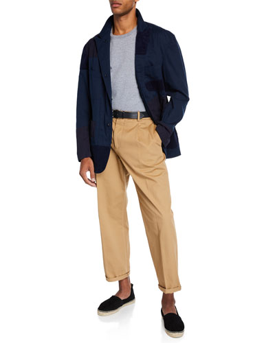 Men's Bedford Twill Patchwork Sport Jacket and Matching Items