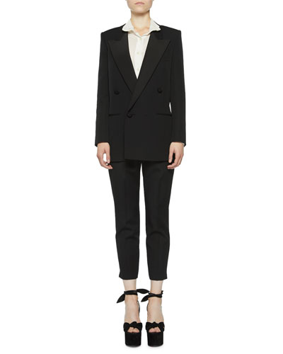 Peak-Lapel Tuxedo Blazer and Matching Items