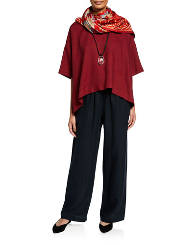 Drawstring-Waist Linen Trousers and Matching Items