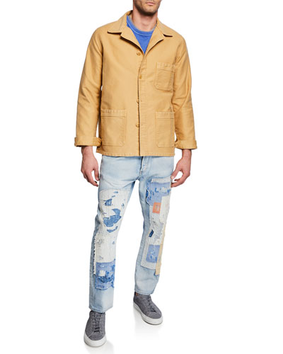 eaa906ee83f0 Men s Stone-Washed French Worker Jacket and Matching Items