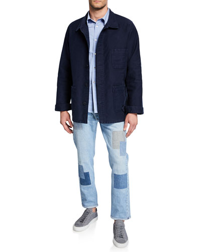 Men's Stone-Washed French Worker Jacket and Matching Items