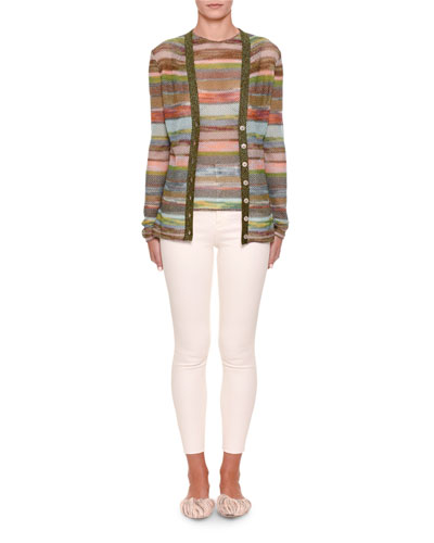 Striped Button-Front Cardigan and Matching Items
