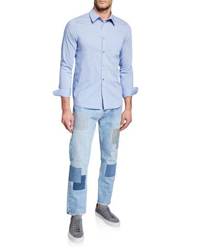 Men's Long-Sleeve Stripe Woven Sport Shirt and Matching Items