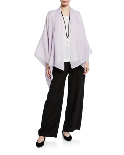 Wide Short-Sleeve Scrunch Shoulder Jacket and Matching Items