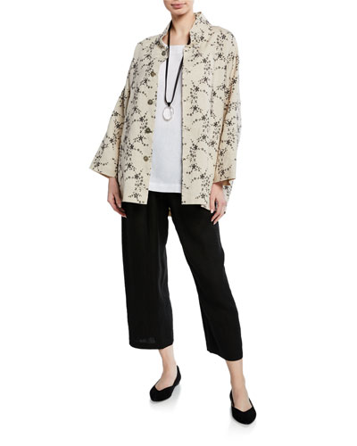 3/4-Sleeve Sloped Shoulder Jacket and Matching Items