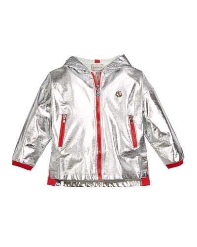 Metallic Zip-Up Hooded Jacket  Size 4-6  and Matching Items