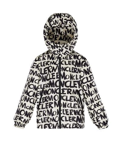 Logo Printed Nylon Hooded Jacket  Size 4-6  and Matching Items