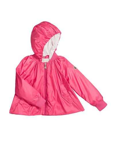 Nylon Hooded Bomber Jacket  Size 4-6  and Matching Items