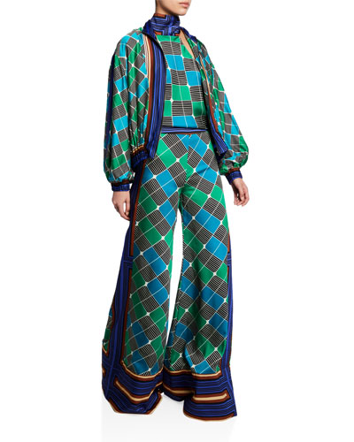 Roel Geo-Print Wide-Leg Pants and Matching Items