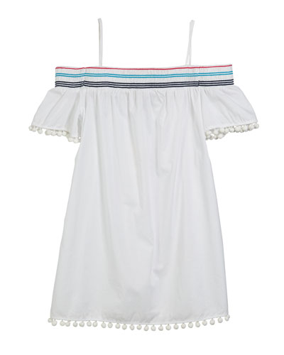 Smocked Cold-Shoulder Swim Coverup  Size 4-6  and Matching Items