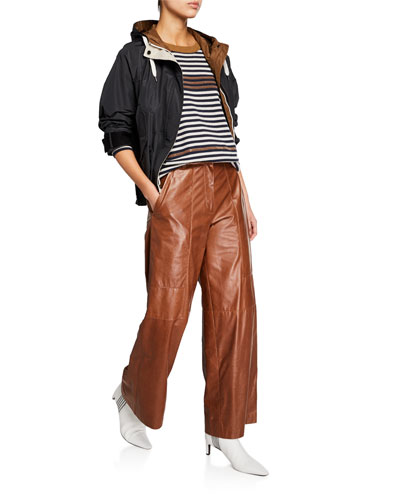 Cropped Taffeta Drawstring-Waist Jacket and Matching Items