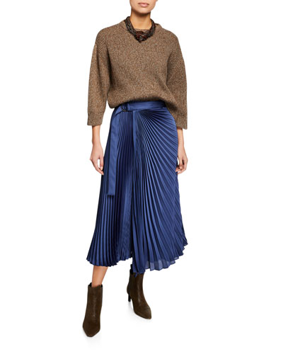 Shimmer Ribbed Wool-Cashmere Sweater and Matching Items