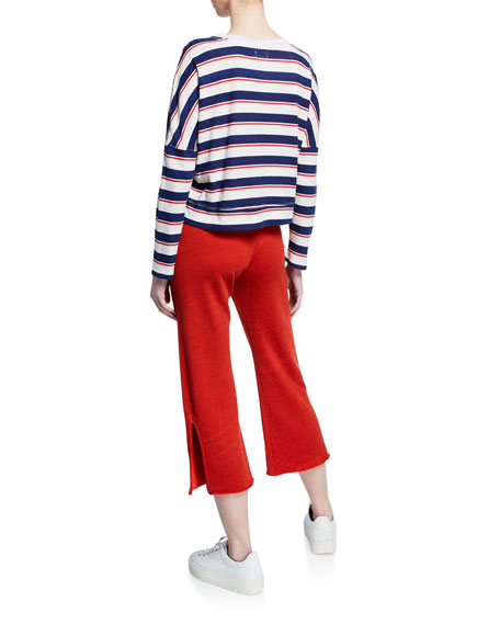 Striped Easy Long-Sleeve Top