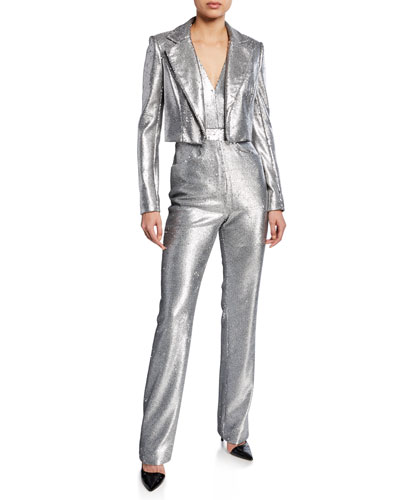 Sequined Crop Jacket and Matching Items