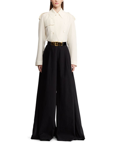 Charley Trench-Style Silk Shirt and Matching Items