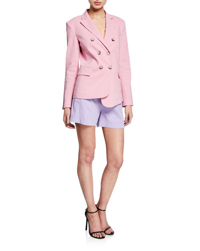 Delizia Asymmetric Linen Blazer and Matching Items