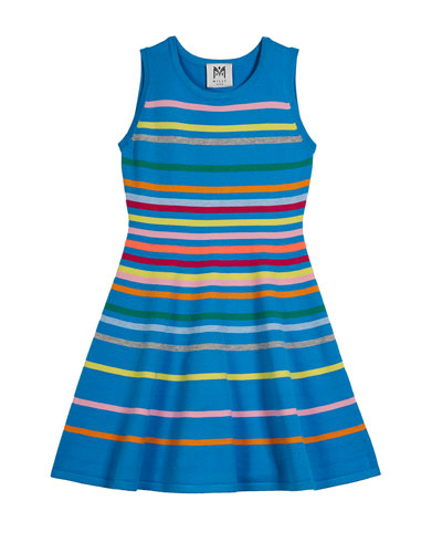 Rainbow Stripe Flare Dress  Size 4-6  and Matching Items